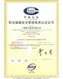 碧江职业健康安全管理体系认证证书