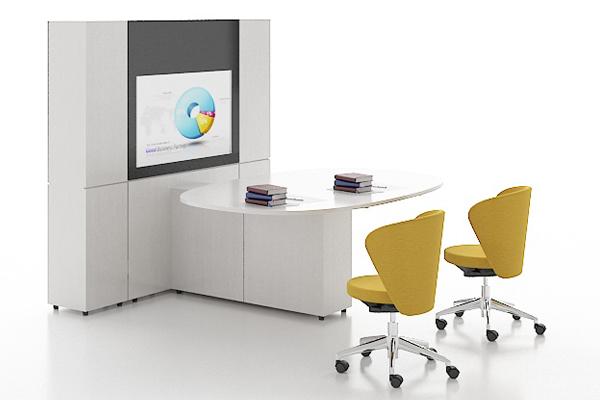 多功能可旋转会议桌 47寸电视会议台--G-JGZTSU20