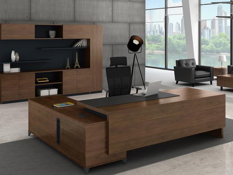 时尚老板大班台 经理办公桌 实木办公桌ENS-01D27