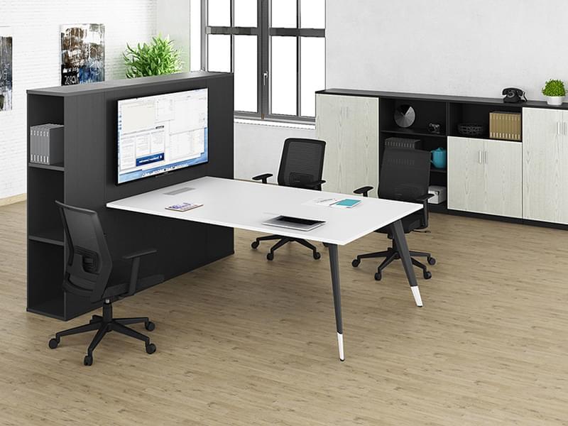 高端多功能网络会议桌 小型带柜子时尚会议洽谈桌RC-MC2420B