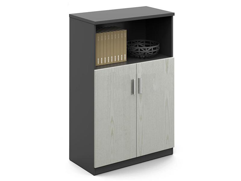文件资料储存柜_现代简约木质矮柜_储物落地式桌边书柜