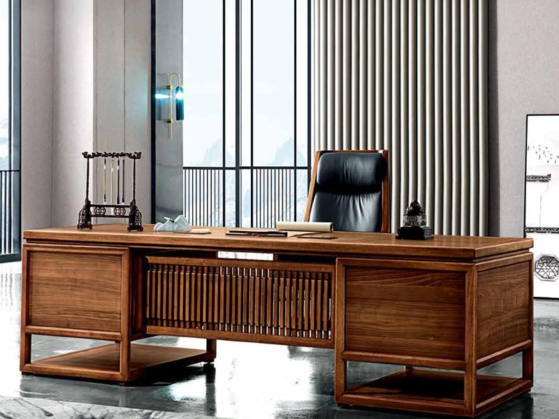 明代风格新中式实木大班台楠木总裁办公桌