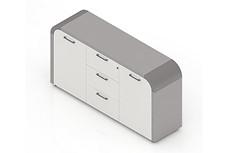 时尚圆角办公文件柜--G-JWSU15