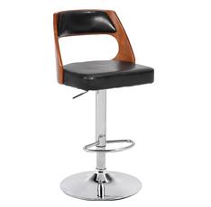 时尚吧椅 钢架实木西皮吧台椅--4638