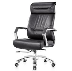 时尚经理椅 牛皮/西皮金属五星转椅A390