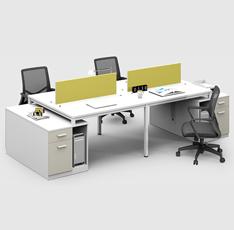 现代办公卡位 员工办公桌 时尚四人卡位 WB2412