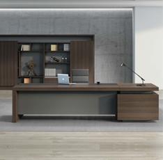 时尚总裁办公桌_现代经理大班台_上海定做老板办公桌