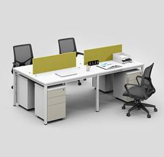 四人位职员办公桌 4人卡位屏风员工位 电脑桌工作位组合家具
