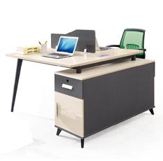 白橡木办公桌员工位即装即用单人位二人位四人位