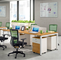 现代钢架组合式员工位办公桌二人位四人位