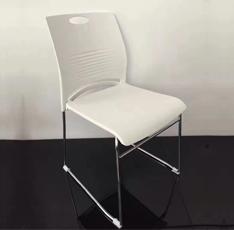 休闲办公椅简约会议椅结实耐用实心脚架PP培训椅