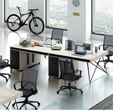 工业风办工桌员工电脑桌几何系列