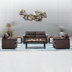 办公沙发简约现代实木脚三人位单人位商务接待沙发