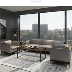 办公沙发茶几组合套装简约现代商务会客洽谈接待室沙发
