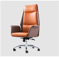 北欧真皮休闲办公室旋转老板椅现代简约舒适家用升降后仰电脑椅