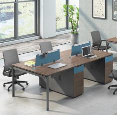 屏风办公桌2人位简约现代家具新款四人6人职员桌