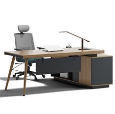 老板桌总裁桌实木桌脚简约现代家具经理桌主管桌办公桌椅组合