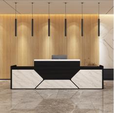 办公前台公司美容院接待台吧台柜简约长方形服装店收银柜台
