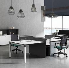 现代简约电脑屏风工作位职员办公桌