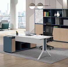 岩板办公桌椅-魔岩系列